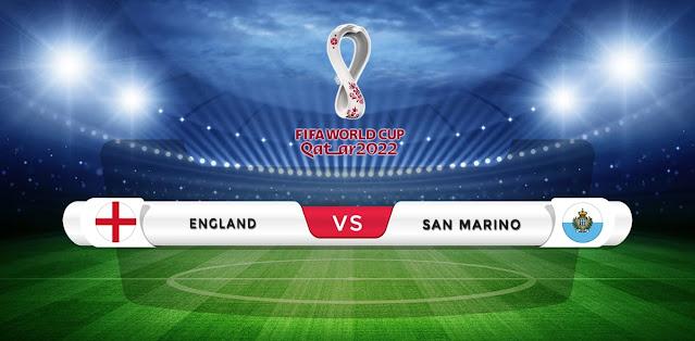 England vs San Marino Prediction & Match Preview