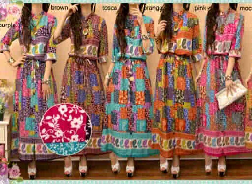 maxi dress katun rayon