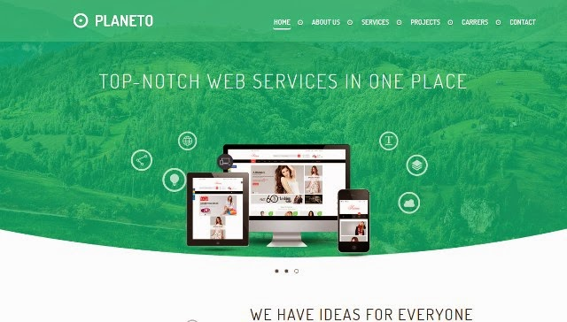Planeto - Free Responsive Business Template
