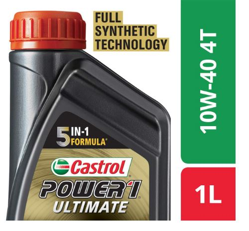 Castrol Power1 Ultimate 4T 10W40 Full Synthetic Engine Oil for Bikes (1L)