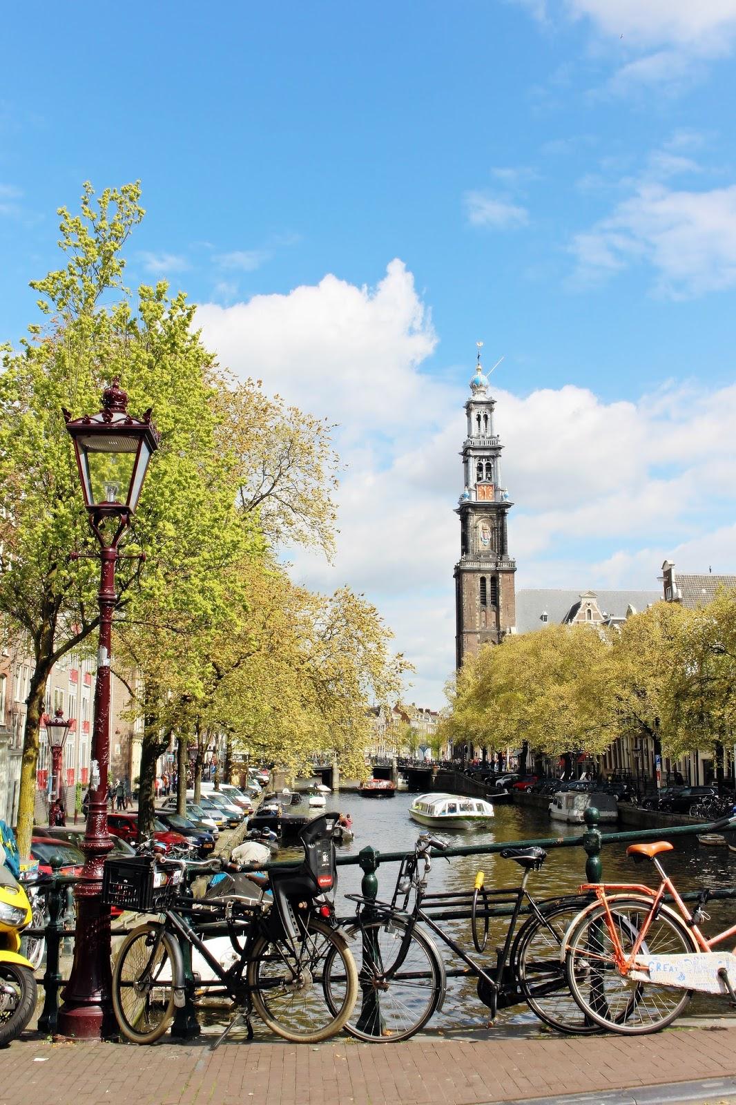 Amsterdam Brücke und Fahrräder
