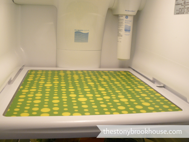 First Fridge Mat down