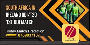 SA vs IRE 1st South Africa tour of Ireland ODI Match 100% Sure Match Prediction