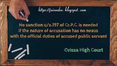 No-sanction-under-section-197-of-Cr.P.C.-is-needed-to-prosecute-public-servant- if-offence-has-no-nexus-with -his-official-duties