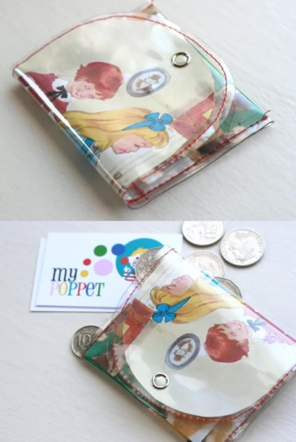 book page coin purse