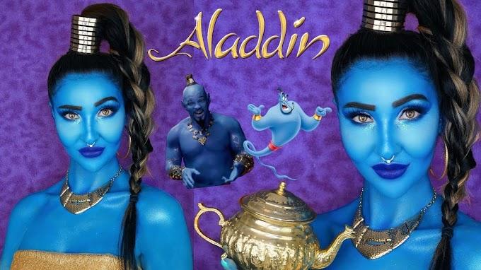 Tutorial de maquillaje del genio de  Aladdin