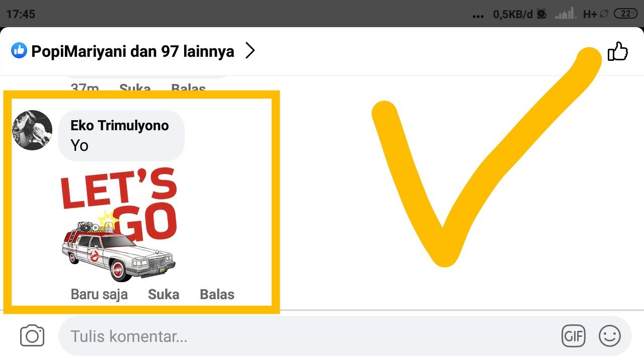 nama stiker di facebook