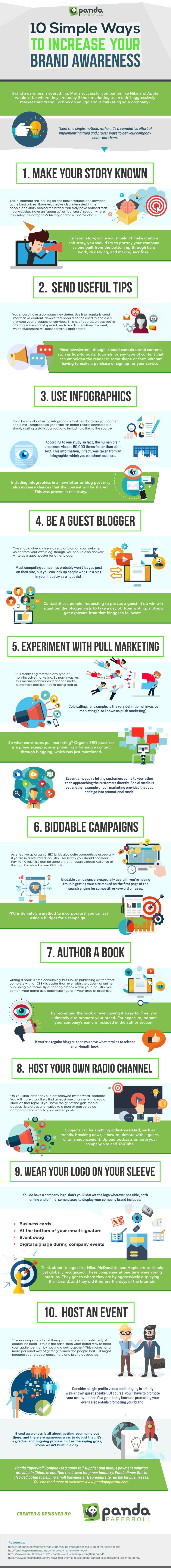 10 Simple Ways to Increase Brand Awareness - #Infographic