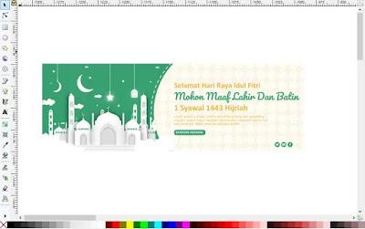 Download Spanduk Hari Raya Idul Fitri Adobe Illustrator
