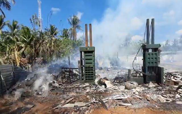 Diduga Karena Adanya Trouble Pada Mesin, Pabrik Kelapa di Sumenep Terbakar