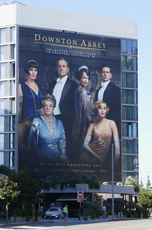 Giant Downton Abbey movie billboard