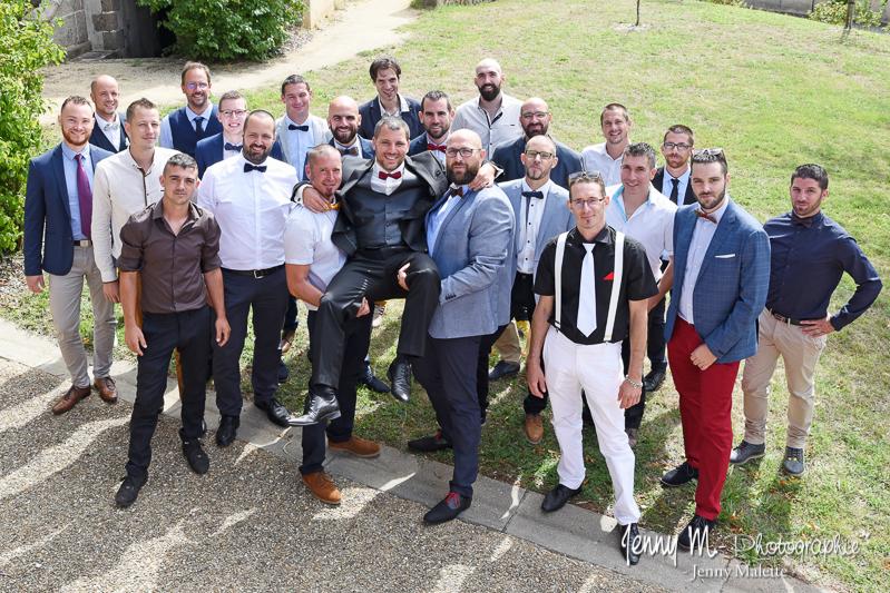 photo de groupe originale marié et ses copains