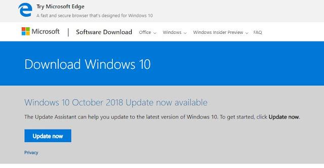 Download File ISO Windows 10 1809 build 17763 Update 10 October 2018 Terbaru