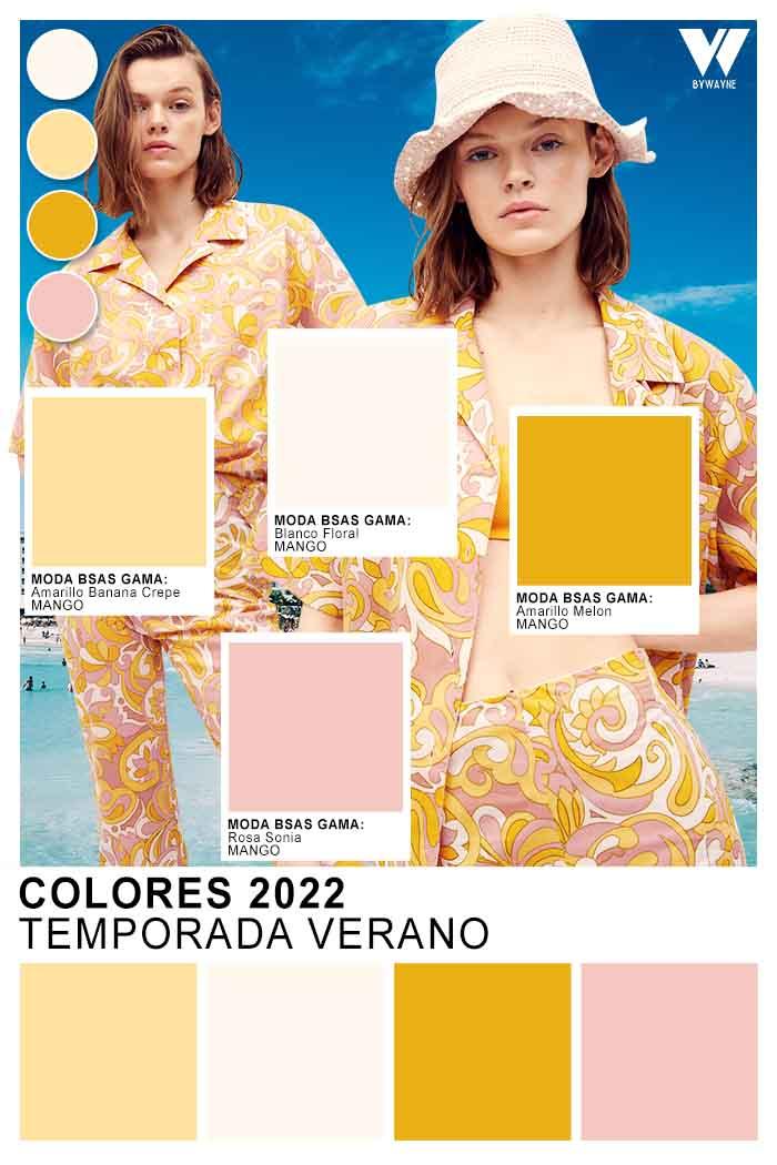paleta de colores primavera verano 2022
