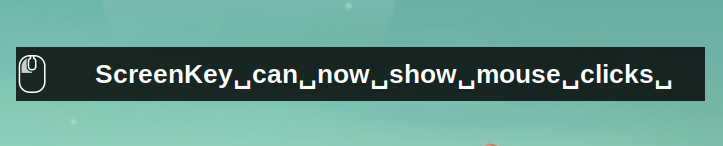 screenkey mouse clicks