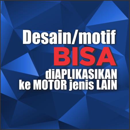 Sticker decal motor mobil