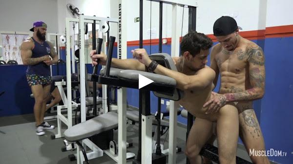 #MuscleDom - Gym Sex