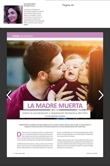 Teba R. en Revista VIVE SANO