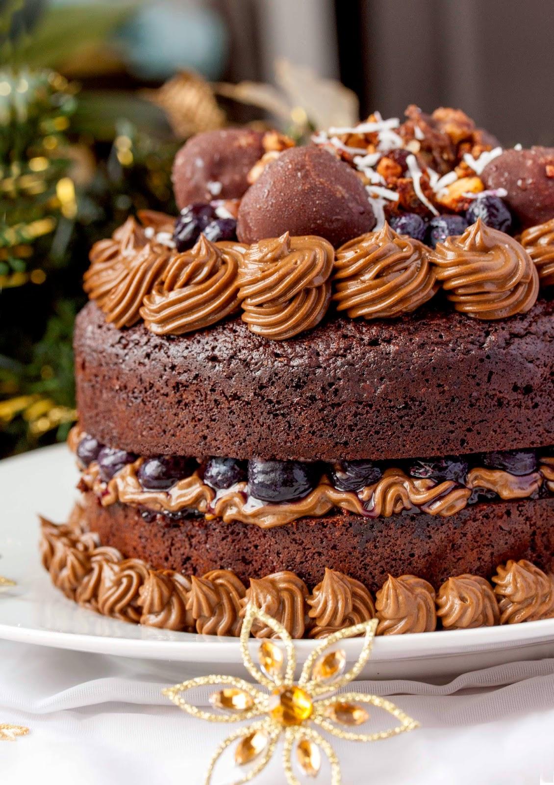 Chocolate Brownie Layered Birthday Cake - another epic ...