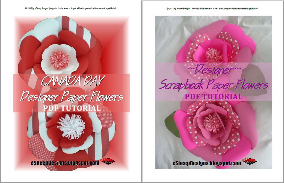 Esheep designs free pdf tutorial designer paper flowers two pdf tutorials for making designer paper flowers mightylinksfo