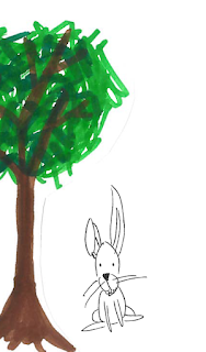 Rabbit Under a Tree