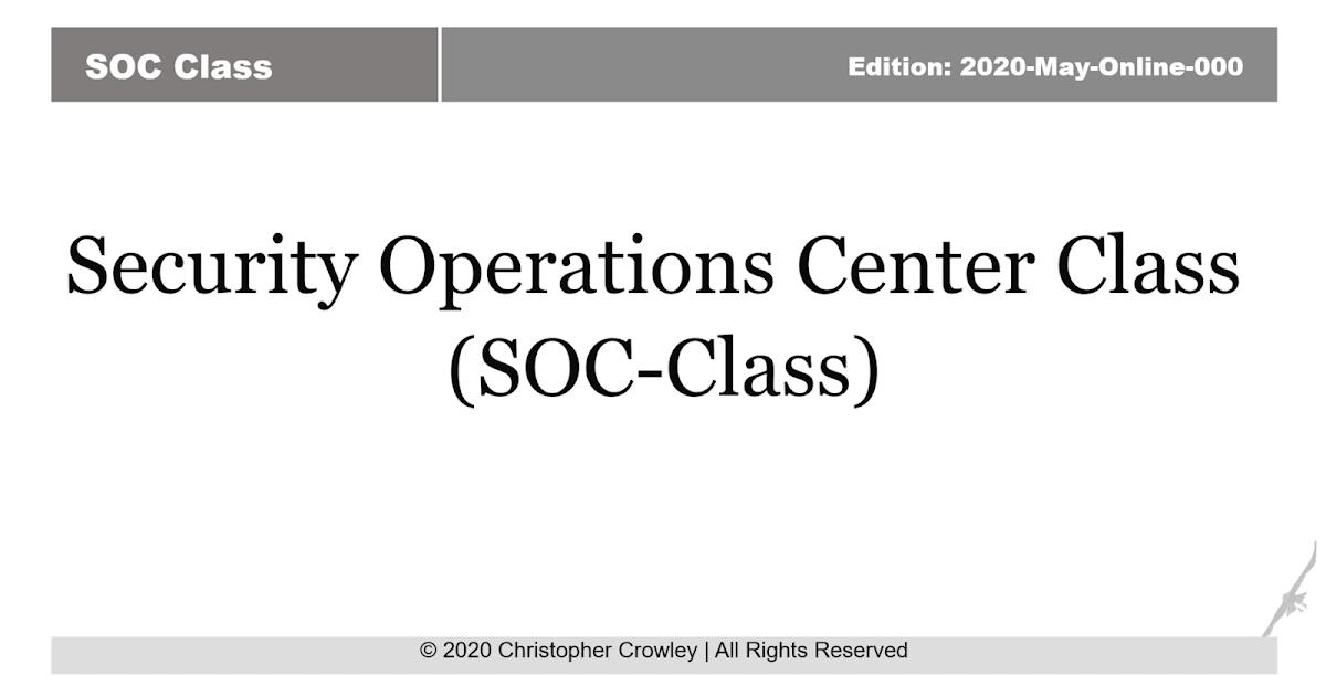 Опыт обучения на курсах по SOCам