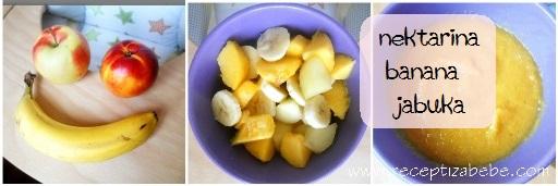 Nektarina, banane i jabuka za bebe