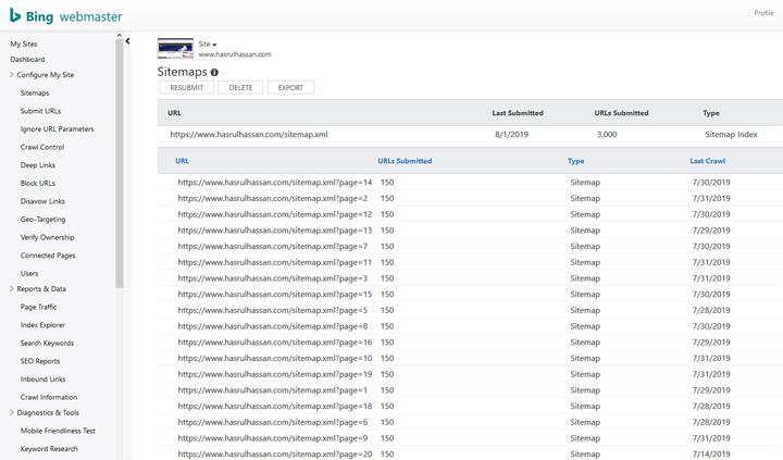 Langkah Submit Sitemaps menerusi Bing Webmaster Tools