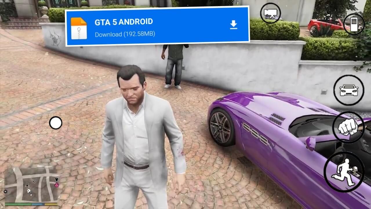 تحميل لعبة gtav لجميع اجهزة الاندوريد والاجهزة الضعيفة من ميديا فاير وباخر اصدار 2021 | GTA 5 APK
