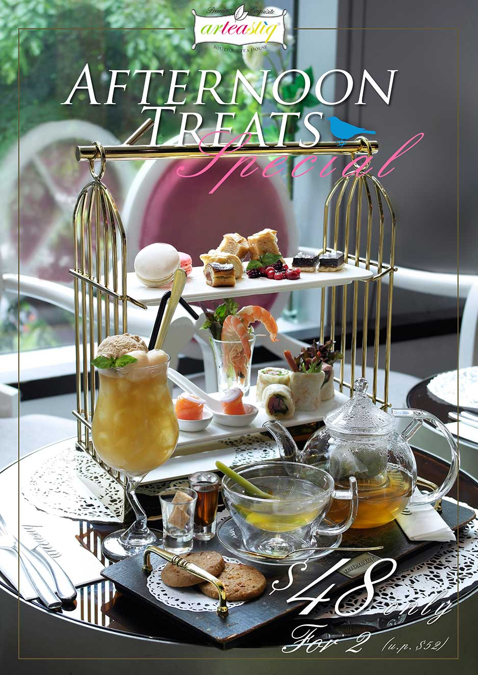 Food Review Arteastiq New High Tea Set Served In Bird