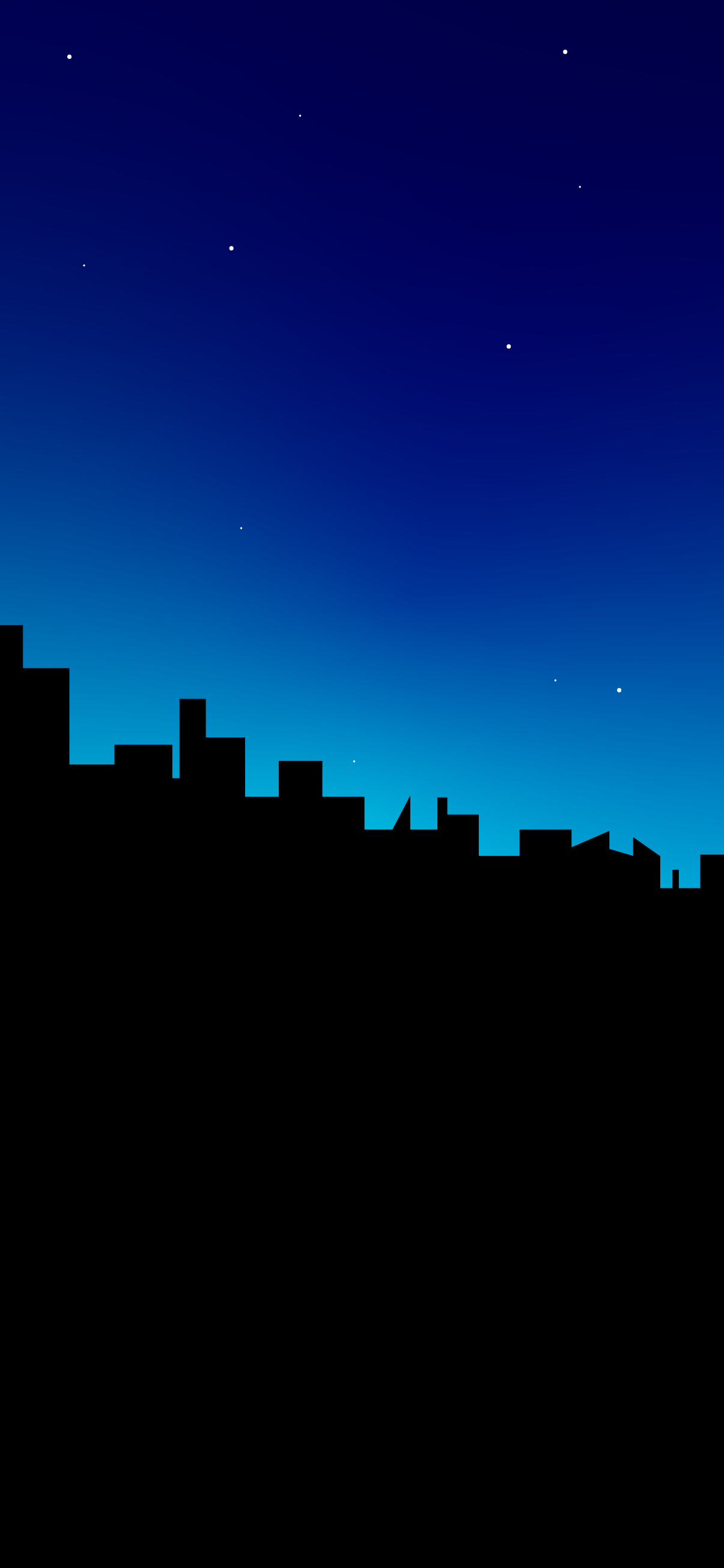city silhouette minimalist wallpaper blue for iphone 12
