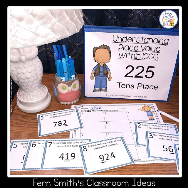 2nd Grade Go Math 2.5 Place Value To 1,000 Task Cards #FernSmithsClassroomIdeas