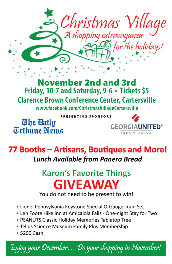 Christmas Village in Cartersville, Ga., shopping, holiday, Clarence Brown Center