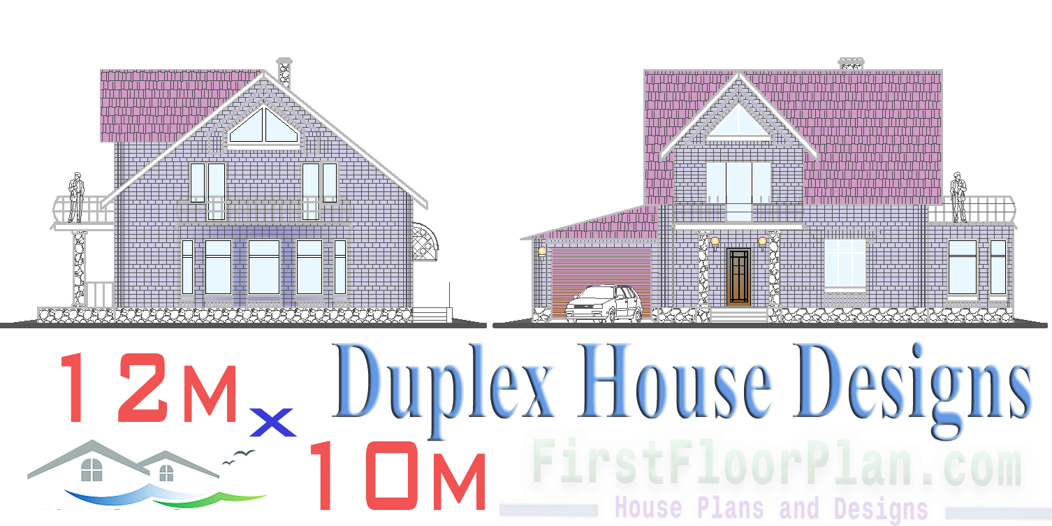 Duplex House Plans and Designs for Single Family