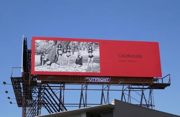 Calvin Klein underwear Kardashians Jenners billboard