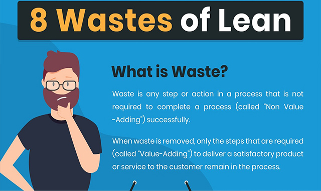 8 Lean waste #infographic