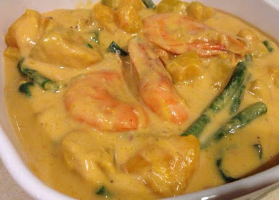 Ginataang Kalabasaw with Sitaw and Shrimp Recipe
