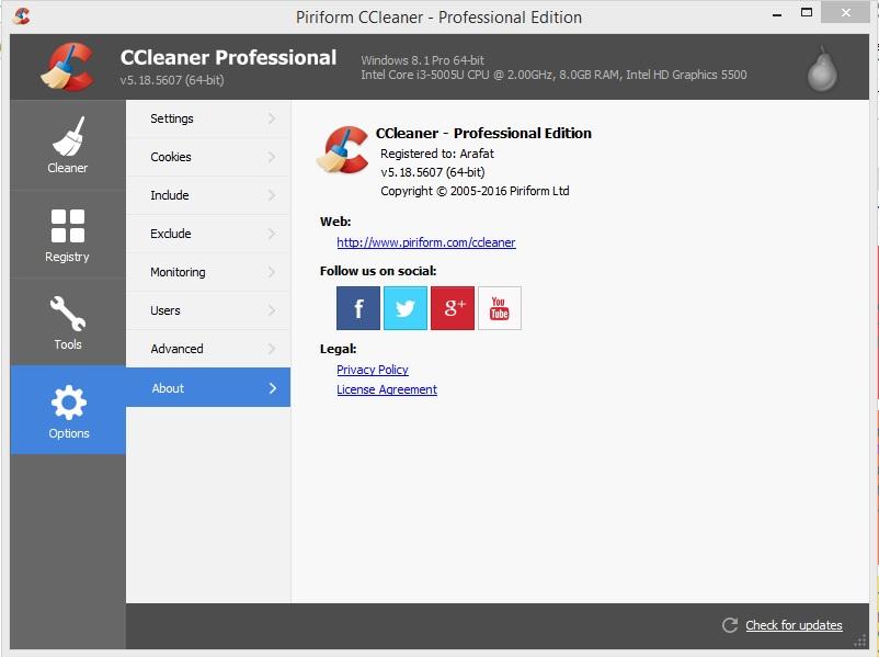 CCleaner 5.18 Professional full Registration key for Any ...