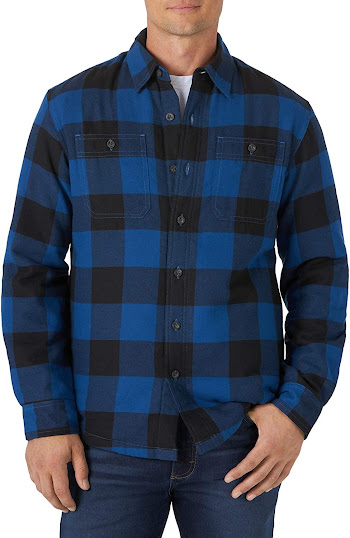 Men's Lined Plaid Flannel Shirts Jackets