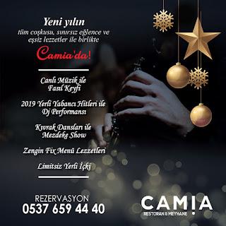 camia restoran izmir yılbaşı programları 2020 rezervasyon