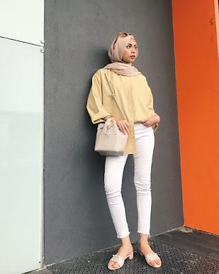 cewek seksi Hijab dan jilbab paduan dengan Skinny Jeans