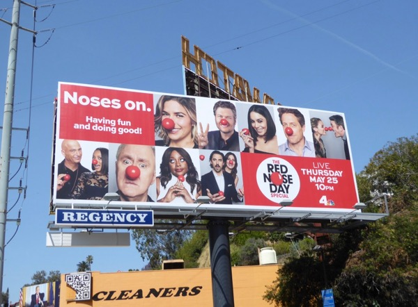 Red Nose Day 2017 NBC billboard