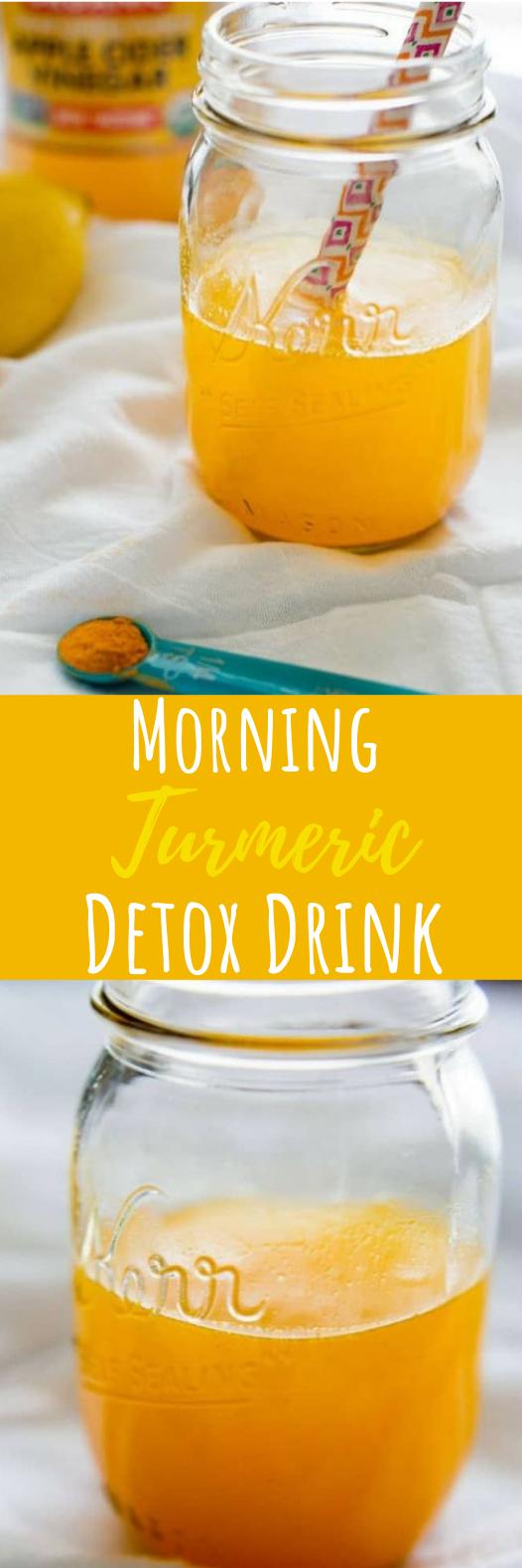 Morning Turmeric Detox Drink #healthydrink #detox