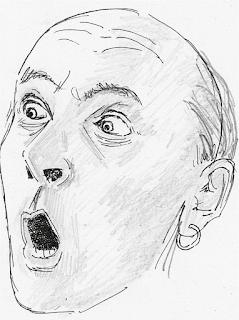 Kenneth Williams as Sharkey by Mark Jones