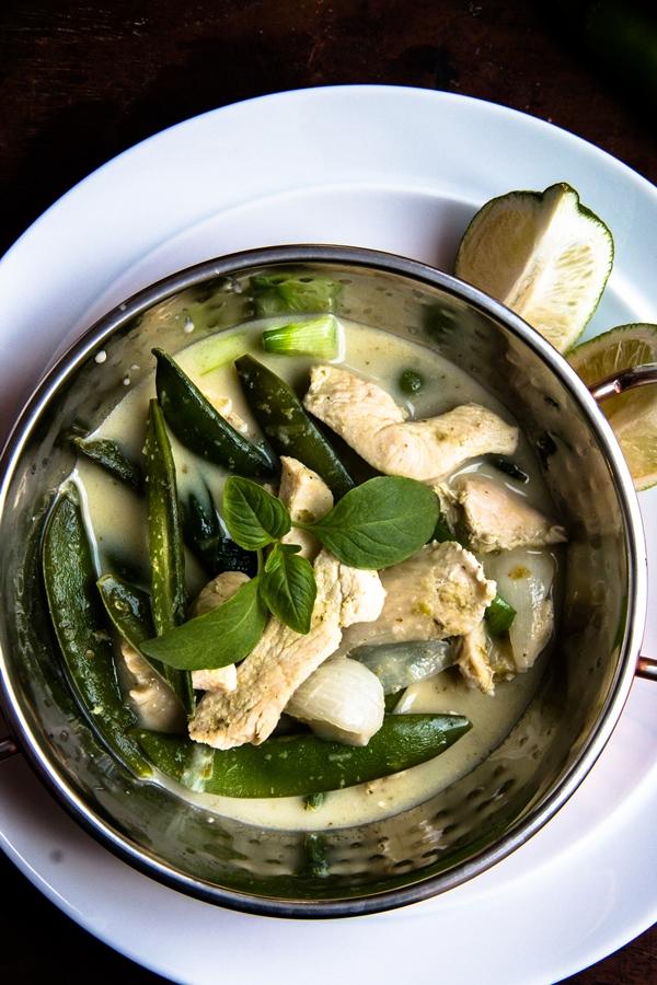 Tajskie zielone curry z kurczakiem