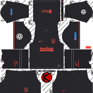 Atletico Madrid 2019/2020 champions league Kit - Dream League Soccer Kits