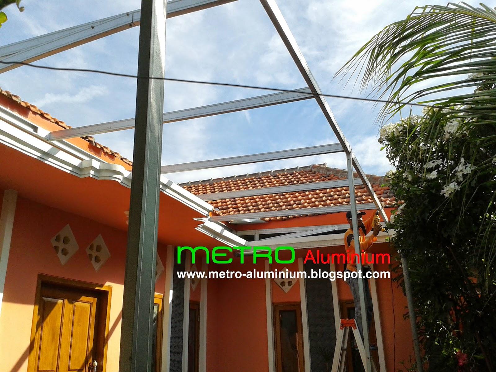 Baja Ringan Teras Rumah Canopy Probolinggo Metro Truss