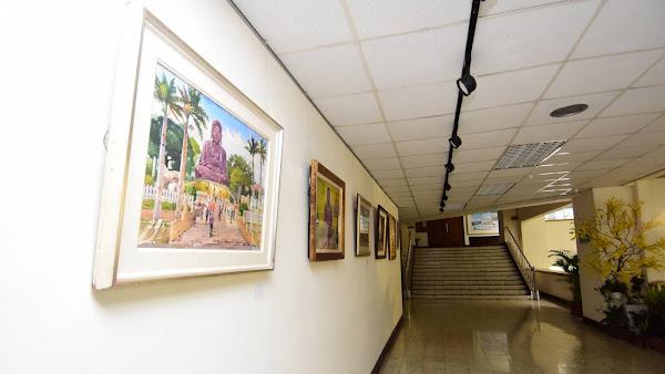 彰化縣政府增闢藝術展示空間 洽公民眾處處可遇大佛