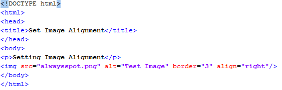 HTML Set Image Alignment