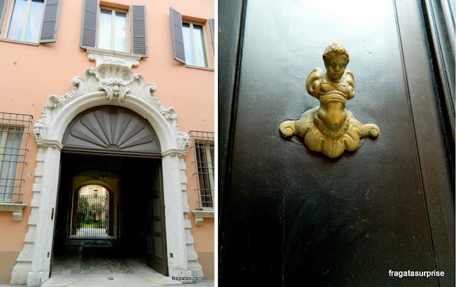 Detalhes das casas de Ravena, Itália
